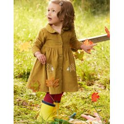 Cord Shirt Dress - Butterscotch Brown