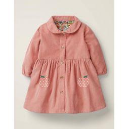 Cord Shirt Dress - Chalky Pink