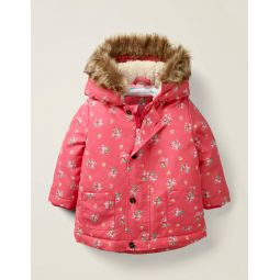 3-In-1 Cosy Jacket - Multi Vintage Posey Pink