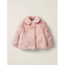 Faux Fur Coat - Chalky Pink