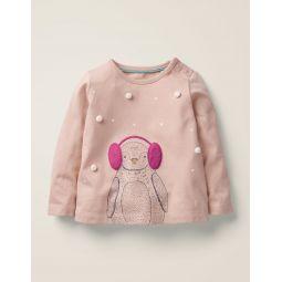 Winter Animal T-Shirt - Provence Dusty Pink Penguin