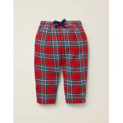 Brushed Check Pants - Rockabilly Red/College Blue
