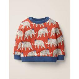 Cosy Sweatshirt - Spark Red Woolly Mammoth