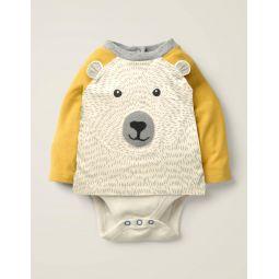 Textured Novelty T-Shirt - Ivory Polar Bear
