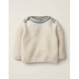 Cashmere Textured Sweater - Ecru
