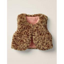 Cosy Vest - Soft Truffle Brown Leopard