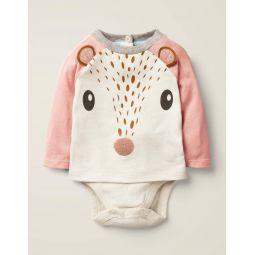 Novelty Textured T-Shirt - Chalky Pink Deer