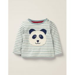 Novelty Panda T-Shirt - Cloudburst Blue Panda