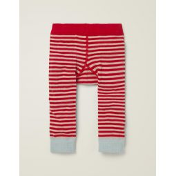 Knitted Leggings - Polish Red/Provence Dusty Pink