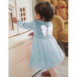 Fairy Wings Tulle Dress - Cloudburst Blue