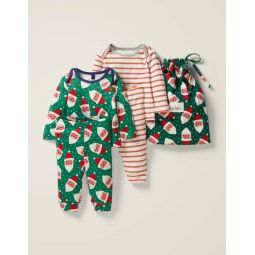 Cosy Twin Pack Pyjamas - Hike Green Jolly Christmas