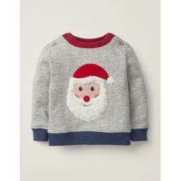 Cosy Sweatshirt - Grey Marl Father Christmas