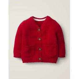 Cashmere Cardigan - Rockabilly Red