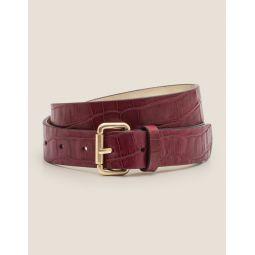 Classic Buckle Belt - Ruby Ring Croc