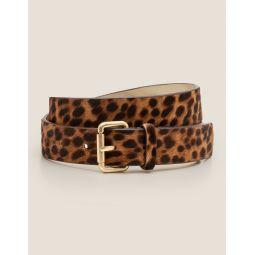 Classic Buckle Belt - Tan Leopard