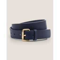 Classic Buckle Belt - Navy