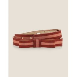 Bow Belt - Conker/Dusky Rose