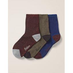 Three Pack Sparkle Socks - Sparkle Multi
