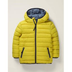 Cosy Pack-Away Jacket - Daffodil Yellow