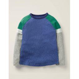 Sporty Raglan T-Shirt - Blue Marl/Grey Marl
