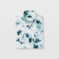 Slim Floral Short-Sleeve Shirt