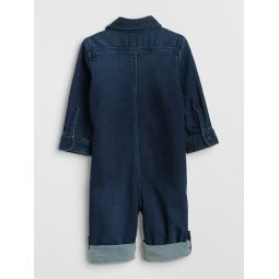 Baby Denim Long Sleeve One-Piece