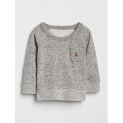 Marled Pocket Sweatshirt