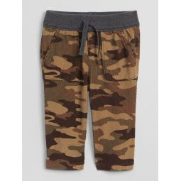 Camo Cord Pull-On Pants