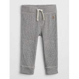 Waffle-Knit Pull-On Pants