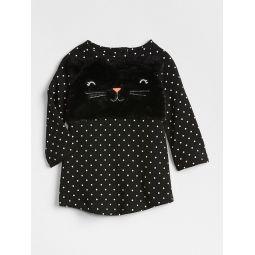 Cat Long Sleeve T-Shirt Dress