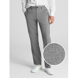 Brushed Twill Pants in Straight Fit with GapFlex