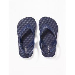 Solid-Color Flip-Flops For Toddler Boys Hot Deal