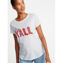 Relaxed Texas-Graphic Tee for Women