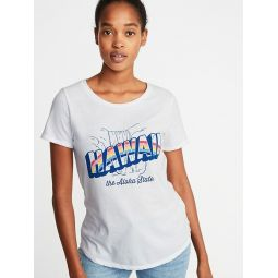 Hawaii Graphic Tee For Women