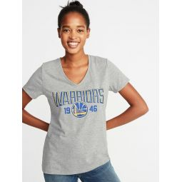 NBA® Team-Graphic V-Neck Tee for Women