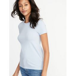Slim-Fit Brushed Jersey Tee for Women