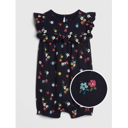 Floral Ruffle Shorty One-Piece