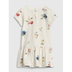 Baby Gap Logo Floral Fit And Flare Dress