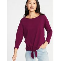 Relaxed Mariner Tie-Front Top for Women