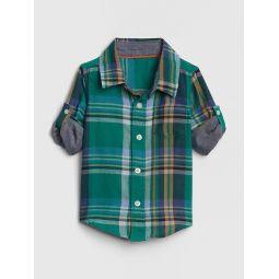 Plaid Convertible Shirt