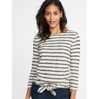 Relaxed Tie-Front Mariner Top for Women