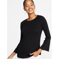 Slim-Fit Bell-Sleeve Top for Women