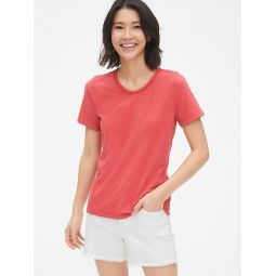 Soft Slub Slim Crewneck T-Shirt