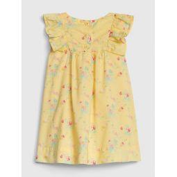 Baby Print Cascade Ruffle Dress