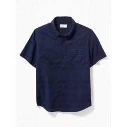 Textured Dobby Chest-Pocket Shirt for Boys Hot Deal