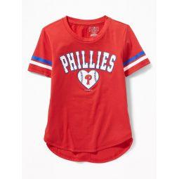 MLB® Team-Graphic Sleeve-Stripe Tee for Girls