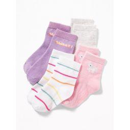 Crew Socks 4-Pack For Toddler & Baby