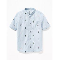 Printed Built-In Flex Shirt for Boys