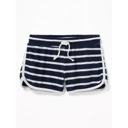 Relaxed Striped Loop-Terry Shorts for Girls