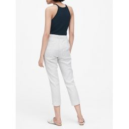 JAPAN EXCLUSIVE Hayden Tapered-Fit Linen-Cotton Cropped Pant